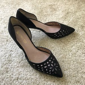Restricted Laser Cut D'Orsay Leather Pumps 7.5